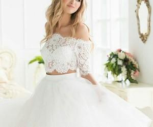 bride, happy, and white image