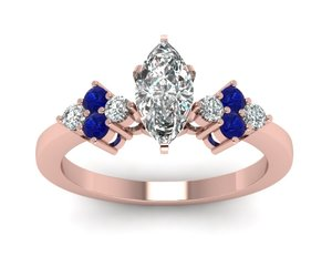 rose gold rings, sapphire rings, and art deco rings image