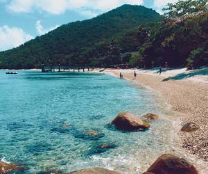 summer, beach, and landscape image