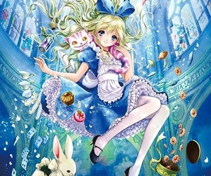 alice in wonderland, anime, and disney image