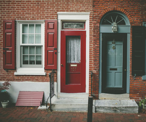 house, autumn, and door image