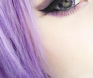 hair, purple, and eyes image