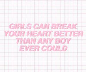 pink, girl, and quote image