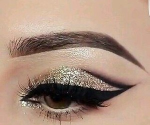 make up, beauty, and eyebrows image
