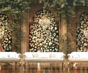 decor, flowers, and wedding image