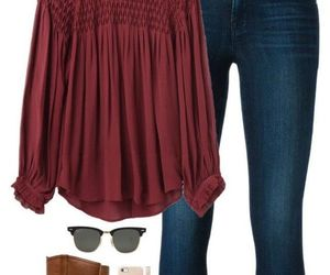 fall, fashion, and jeans image