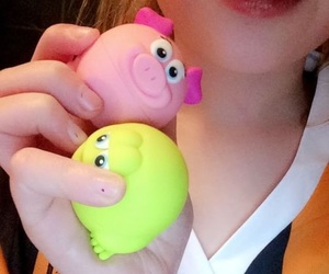 frog, lip balm, and love it image