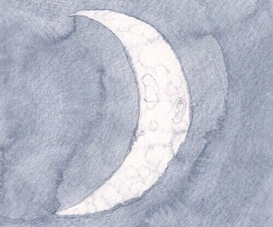 moon, indie, and art image