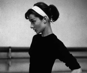 audrey hepburn, black and white, and audrey image