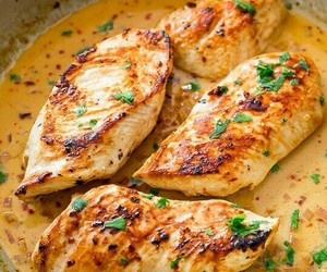 food, Chicken, and delicious image