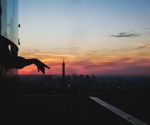 sunset, paris, and summer image