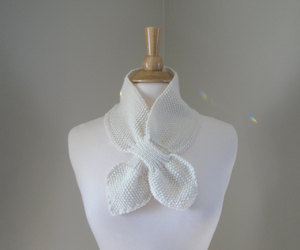 etsy, merino wool, and hand knit scarf image