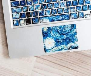 art, keyboard, and van gogh image