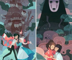 howl's moving castle, spirited away, and chihiro image