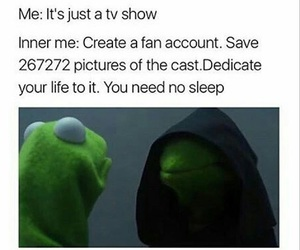 meme, tv, and twd image