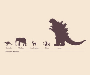 animal, Godzilla, and japan image