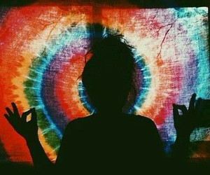 peace and tie dye image