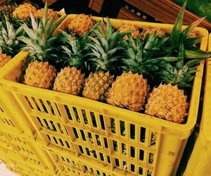 yellow, pineapple, and fruit image