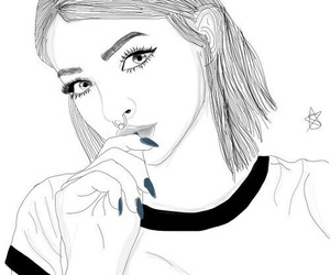 girl, outline, and tumblr image