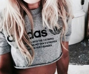 adidas, blonde, and hair image