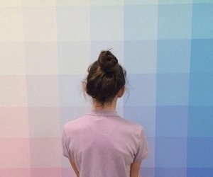 aesthetic, blue, and bun image
