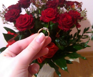 couple, ring, and rose image