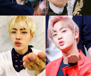 jin, k-pop, and kiss image