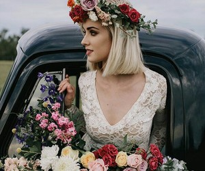 flowers, bride, and photography image