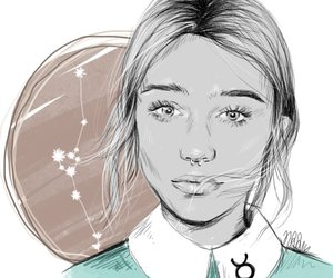draw, girl, and taurus image