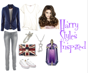 clothes, style, and Harry Styles image