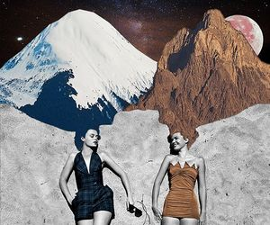 Collage, collage art, and mountains image