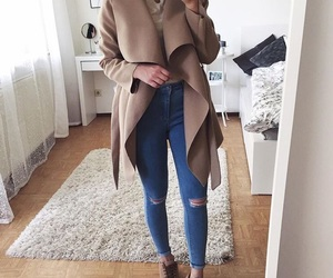 adorable, jeans, and necklase image