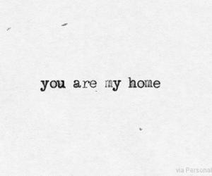 home, quotes, and love image
