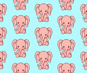 baby, elephants, and pattern image