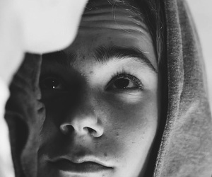 skam, black and white, and boy image