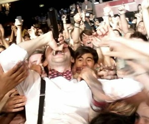 brendon urie, crowd, and panic at the disco image