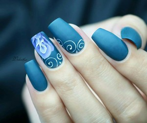 beautiful, blue, and floral image