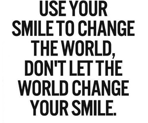smile, quotes, and change image
