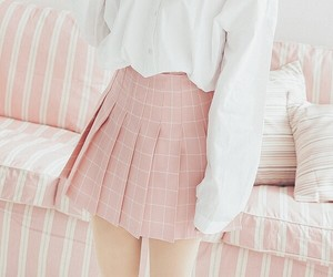 pale, pink, and skirt image
