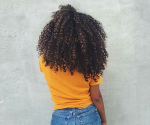 curly hair, girl, and hair image