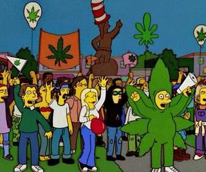 weed, marijuana, and simpsons image