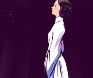carrie fisher, star wars, and leía image