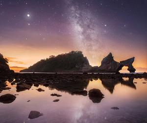 landscape, night, and stars image