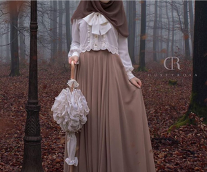 elegant, fashion, and hijab image