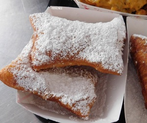 beignet, food, and nikon image