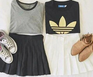 chic, chicas, and outfit image