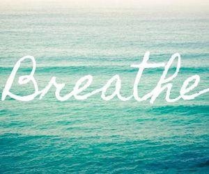 breathe, sea, and quote image