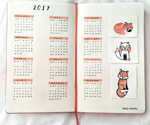 calendar, study, and bullet journal image