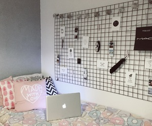 apple, bedroom, and grid image