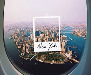 airplane, new york, and beautiful image